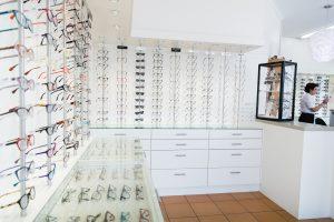 Focus Optometrists Sherwood QLD Wall of glasses